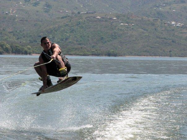 Johannes wakeboarding