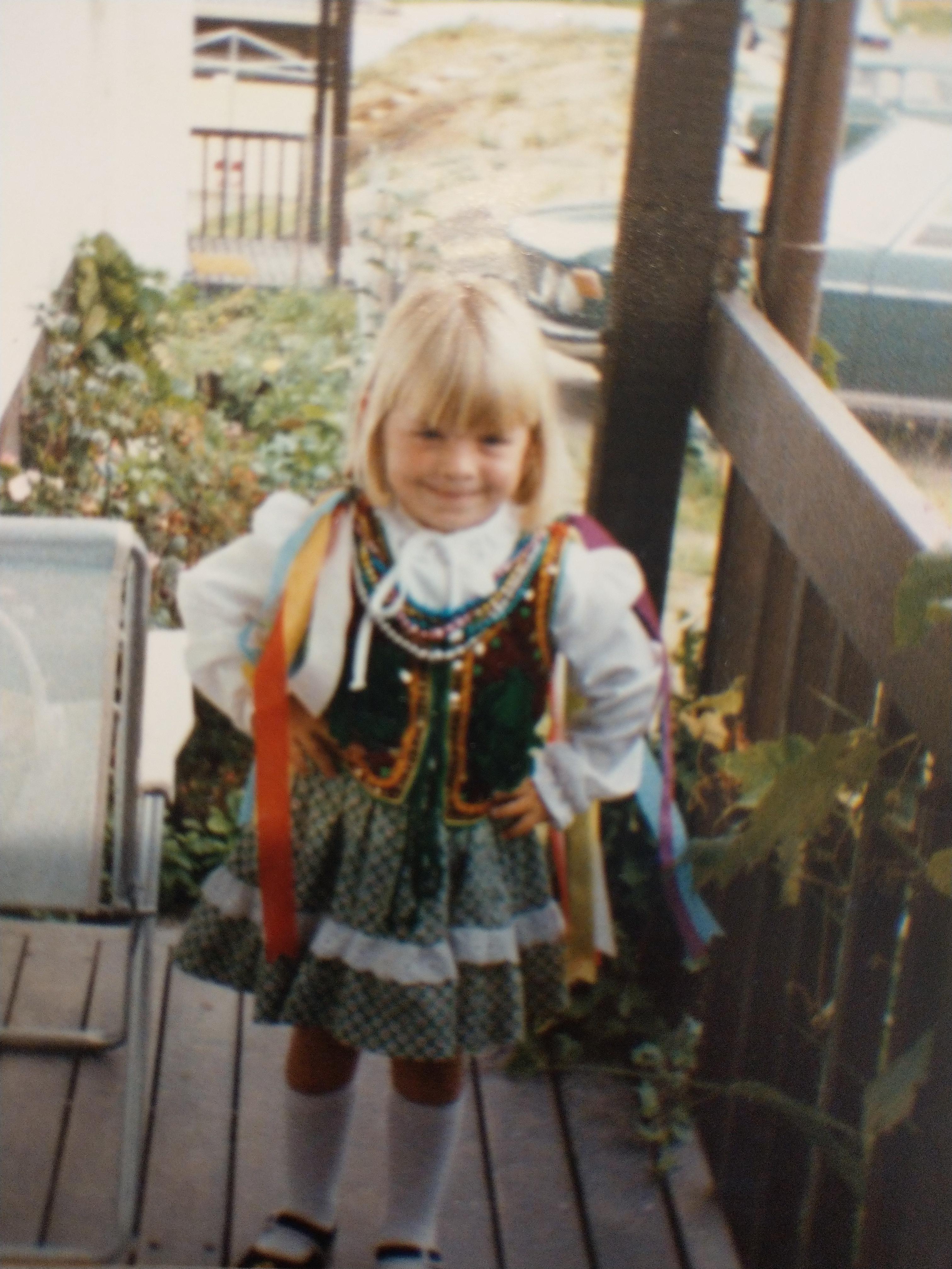 Anna in her costume
